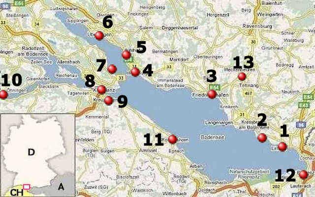 Lago di Costanza, carta stradale online